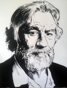 De Niro, 2018. (Boceto) Tinta sobre lienzo. 162 X 120 CM.